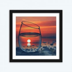 Glass of Orange Sunset