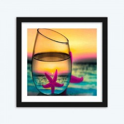 Glass of Teal Sunset