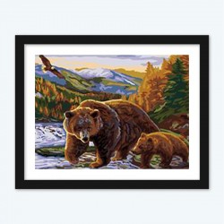 Bear & Baby diamond paintings Kit