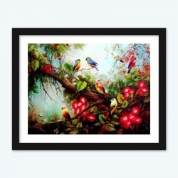 Birds & Flowers diamond paintings Kit