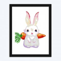 Bunny & Carrot diamond paintings Kit