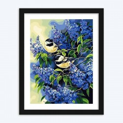 Chickadee Pair diamond paintings Kit