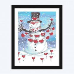 Christmas Snow Man diamond paintings Kit
