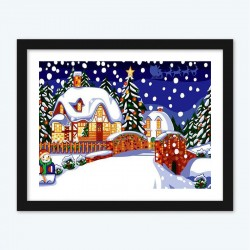 Christmas Snowfall diamond paintings Kit