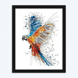 Color Splashing Parrot diamond paintings Kit