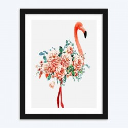 Floral Flamingo diamond paintings Kit