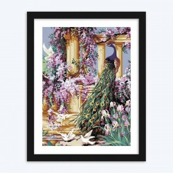 Peacock & Flowers diamond paintings Kit