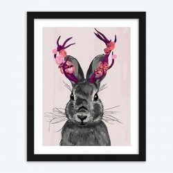 Rabbit with Fantasy Horns diamond paintings Kit