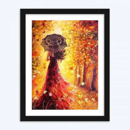 Beautiful Girl in AutumnDIY Diamond Painting for Adults