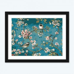 Birds on Floral Branches Kit for Adults