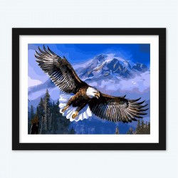 Eagle in the Flight Diamond Painting with DIY Numbers Kit