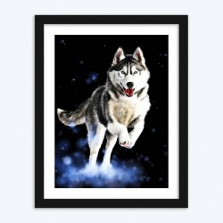 Adorable Running Wolf  diamond paintings