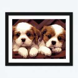 Couple of Cute Puppies diamond paintings