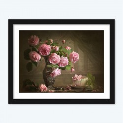 Pink Roses Diamond Painting by Numbers kit