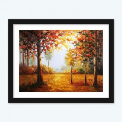 Autumn in the Forest Diamond Painting with Numbers Adults