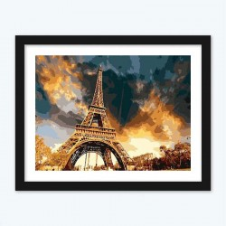 France Paris Eiffel Tower Diamond Painting in Numbers