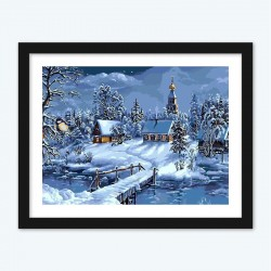 Christmas Snow Diamond Painting by Numbers Kit
