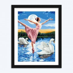 Beautiful Dancing Girl Diamond Painting with  diamond paintings
