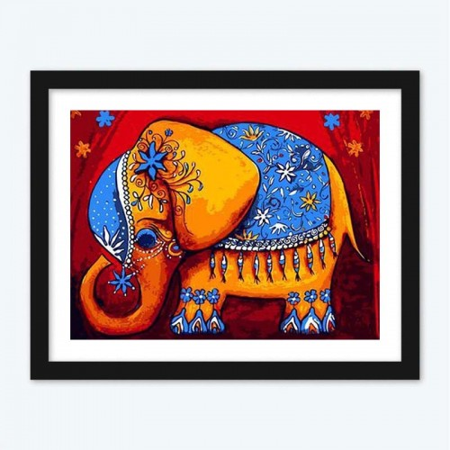 Artistic Elephant Diamond Painting by Numbers Kit