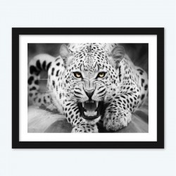 Black and White Tiger Diamond Painting with DIY Kit