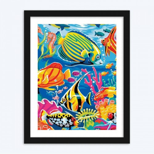 Fish in the Ocean  diamond paintings for Kids