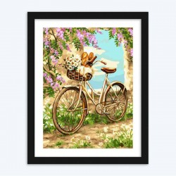Bicycle and Flowers Diamond Painting diamond paintings kit for Adults
