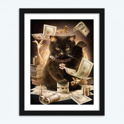 Rich Black Cat Boss for Adults
