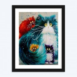 Paint by Number Cats Diamond PaintingArtistic GIFT