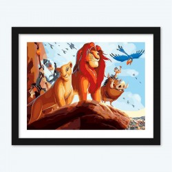 The Lion King CartoonPaint by Number