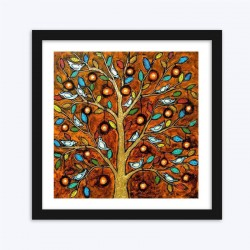 Abstract Bluebird Tree