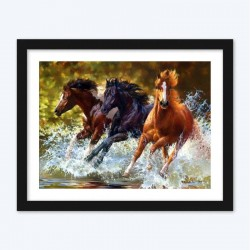 Three Running Horses