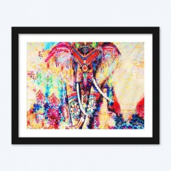 Abstract Female Elephant