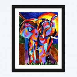 Abstract Dreaming Elephant