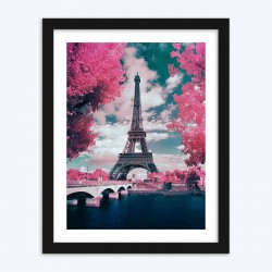 Pink Romantic Eiffel Tower