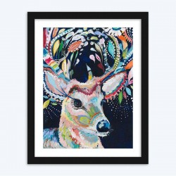 Abstract Colorful Deer