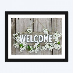 Floral Wood Welcome