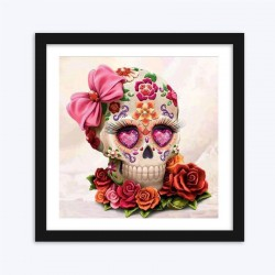 Floral Skull Embroidery