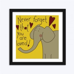 Cartoon Loved Elephant