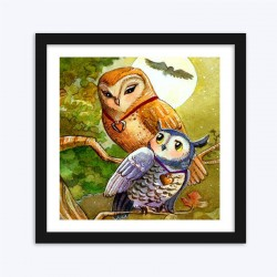 Love Mother And Daughter Owl