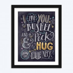 I Love You A Bushel and Peck Meaning