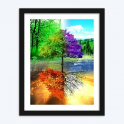 Colorful Four Seasons Tree