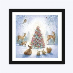 Christmas Tree & Animals Diamond Painting Kit