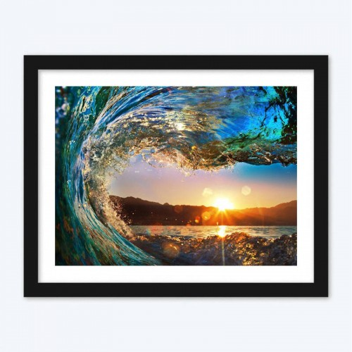 Attractive Sunset View from the Wave