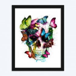 Abstract Butterfly & Skull  Art