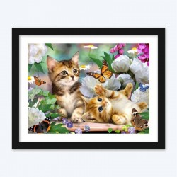Butterflies & Cats Diamond Painting Kit