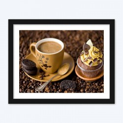 Coffee & Cupcake  Art Kit