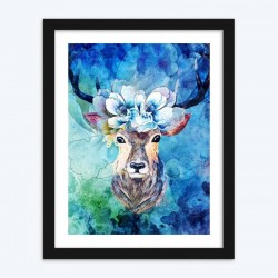 Deer Floral ArtPaint by  Diamonds