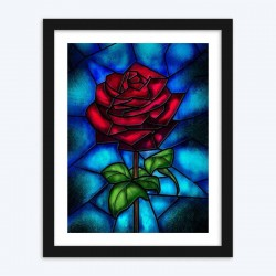 Lovely RoseStained Glass Diamond Painting
