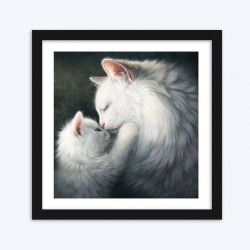 Gorgeous White Cats Art Kit