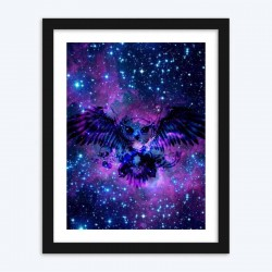 Abstract Owl & Galaxy Diamond Painting Kit